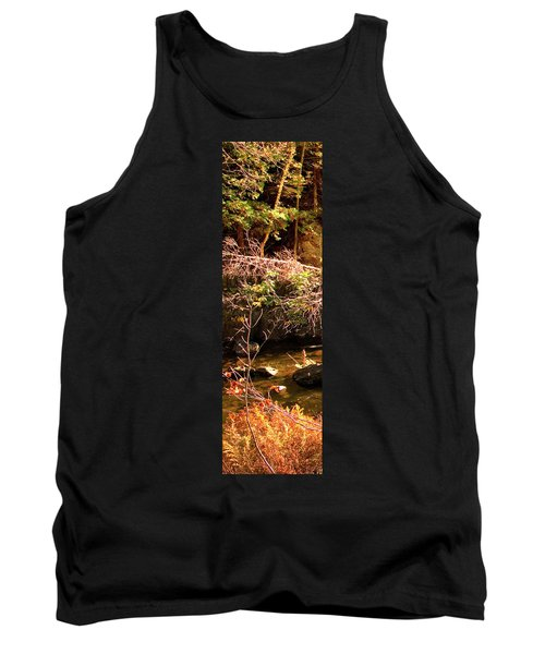 1 Of 6 Dead River Falls  Marquette Michigan Section Tank Top by Michael Bessler