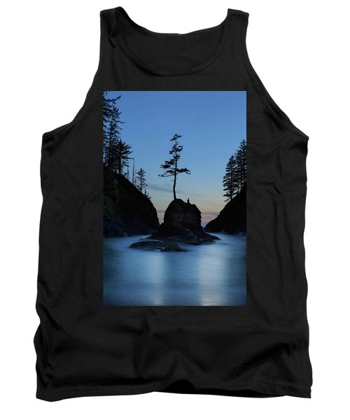 Deadman's Cove At Cape Disappointment At Twilight Tank Top