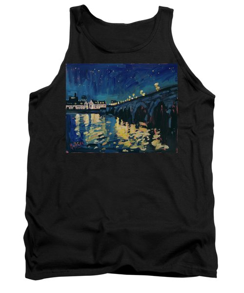 December Lights At The Old Bridge Tank Top