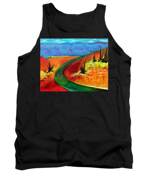 Tank Top featuring the painting Deeper Than It Seems by Elizabeth Fontaine-Barr