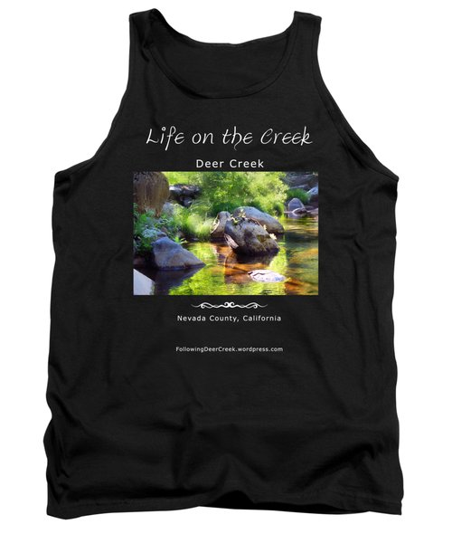 Deer Creek Ferns - White Text Tank Top