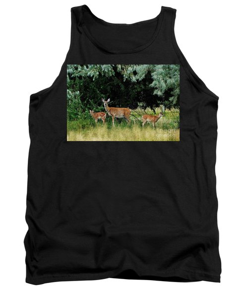 Deer Mom Tank Top by Larry Campbell