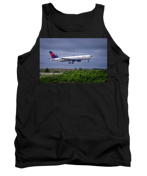 Delta Air Lines 757 Airplane N557nw Art Tank Top