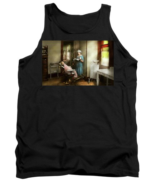 Tank Top featuring the photograph Dentist - Patients Is A Virtue 1920 by Mike Savad