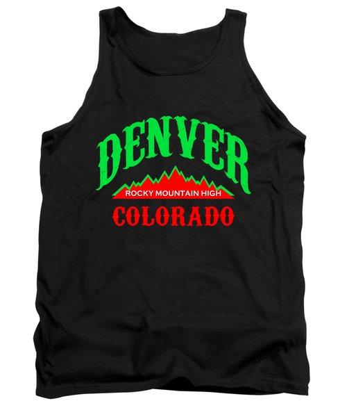 Denver Colorado Tshirt Design Tank Top by Art America Gallery Peter Potter