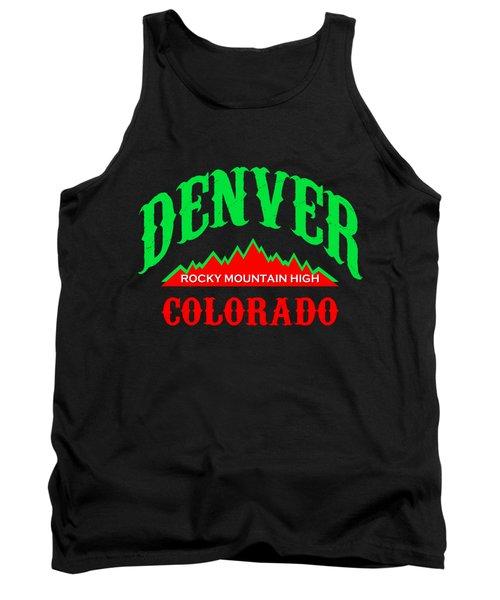 Denver Colorado Rocky Mountain Design Tank Top