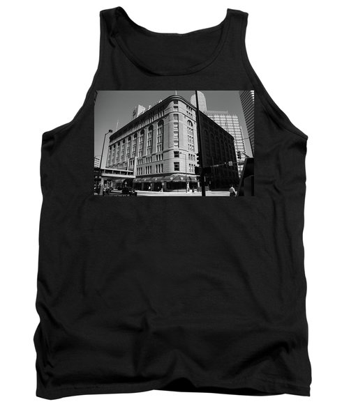 Denver Downtown Bw Tank Top by Frank Romeo