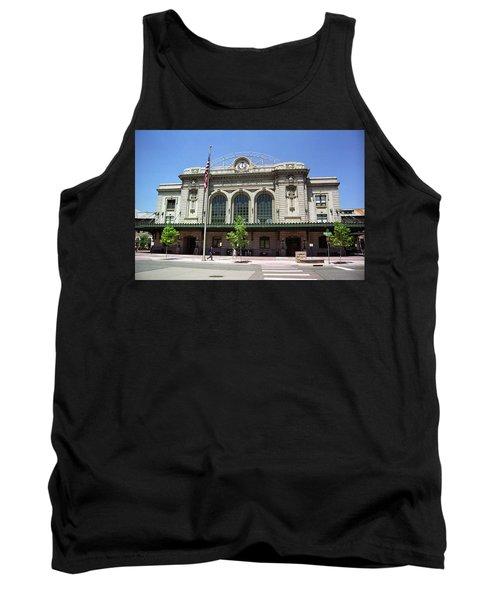 Denver - Union Station Film Tank Top by Frank Romeo