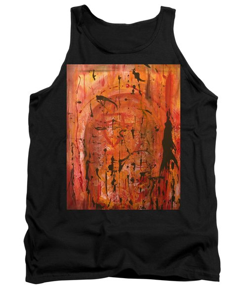 Departing Abstract Tank Top