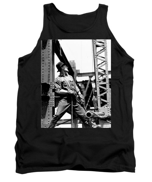 Derrick Man   Empire State Building Tank Top by LW Hine