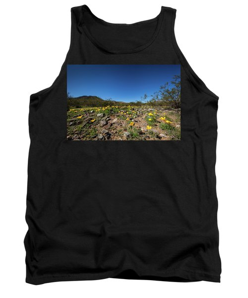 Desert Flowers In Spring Tank Top by Ed Cilley