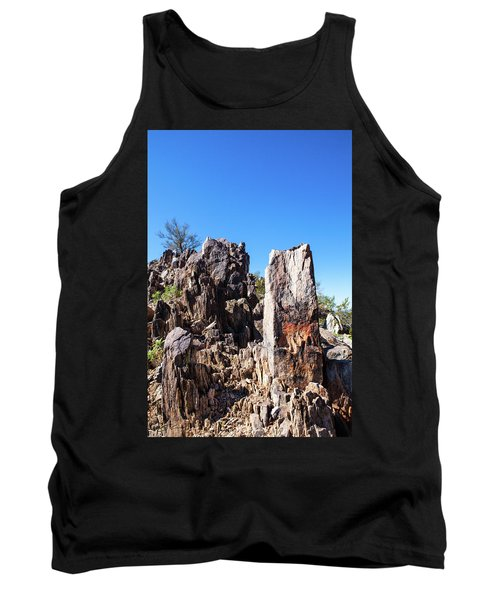 Tank Top featuring the photograph Desert Rocks by Ed Cilley