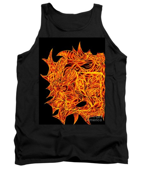 Tank Top featuring the drawing Desire Flair by Jamie Lynn