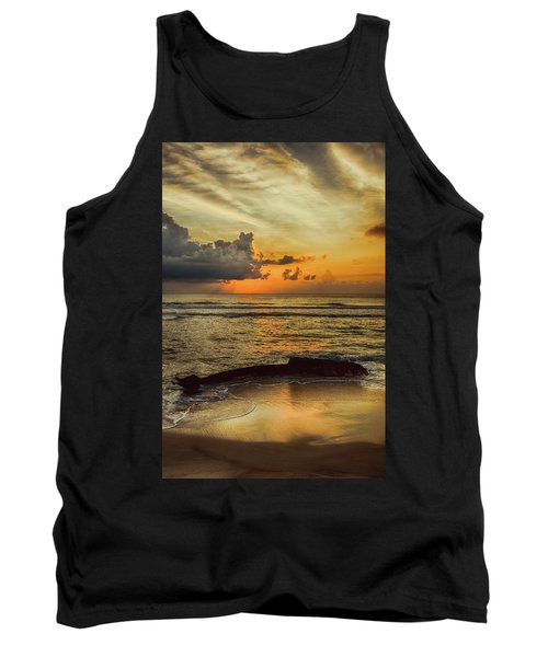 Tank Top featuring the photograph Destruction Of An Outer Banks Shipwreck by Dan Carmichael