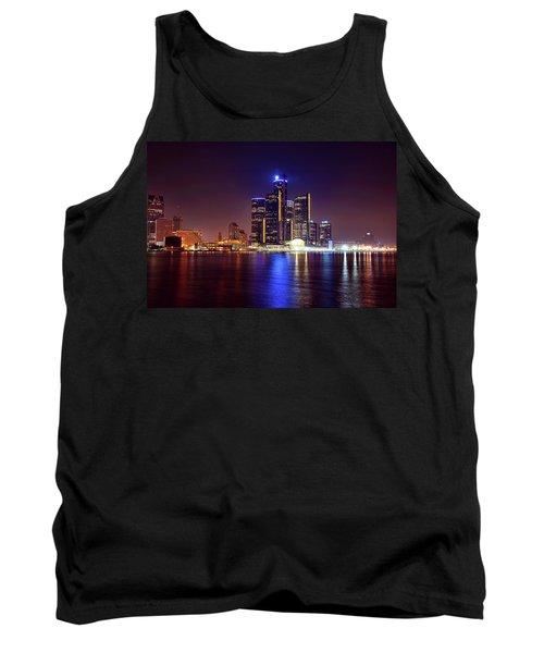 Detroit Skyline 4 Tank Top by Gordon Dean II