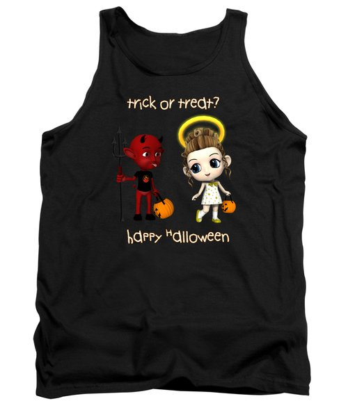 Tank Top featuring the digital art Devil Or Angel Trick Or Treat by Methune Hively