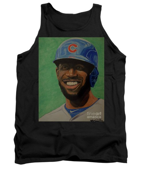 Tank Top featuring the drawing Dexter Fowler Portrait by Melissa Goodrich
