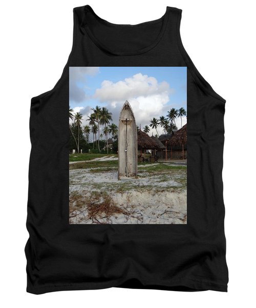 Dhow Wooden Boat As A Beach Shower Tank Top