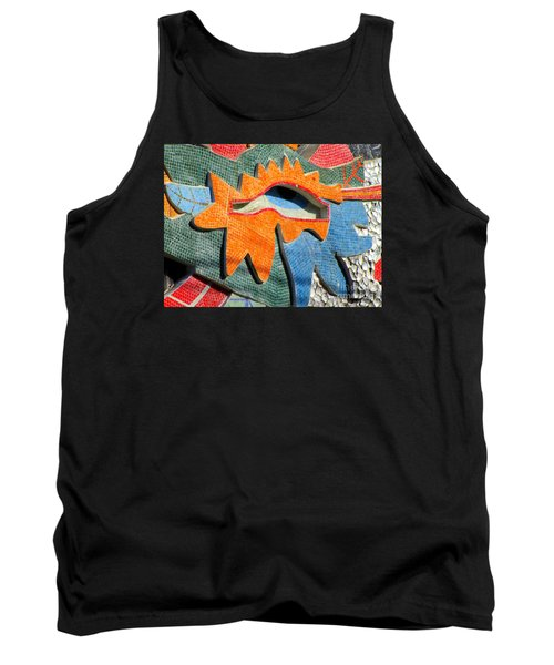 Diego Rivera Mural 9 Tank Top by Randall Weidner