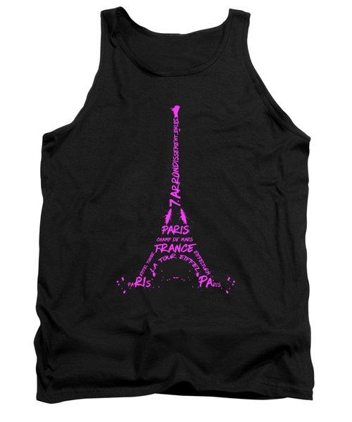 Digital-art Eiffel Tower Pink Tank Top