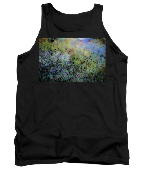 Digital Watercolor Field Of Wildflowers 4064 W_2 Tank Top