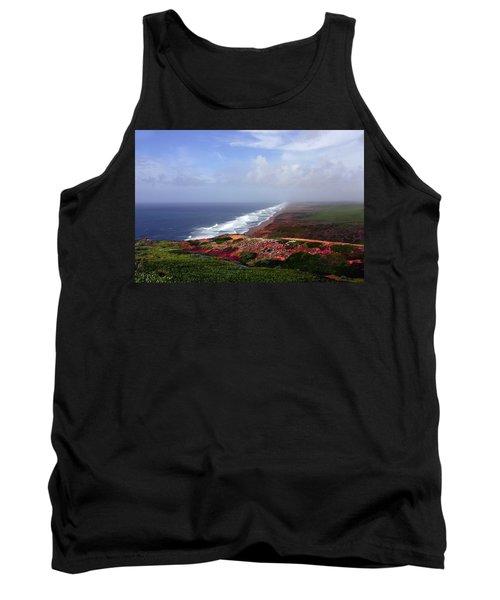 Flowering Beach Point Reyes Lighthouse Bodega Bay Tank Top
