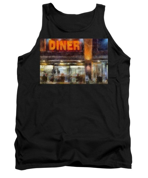 Tank Top featuring the digital art Diner by Francesa Miller