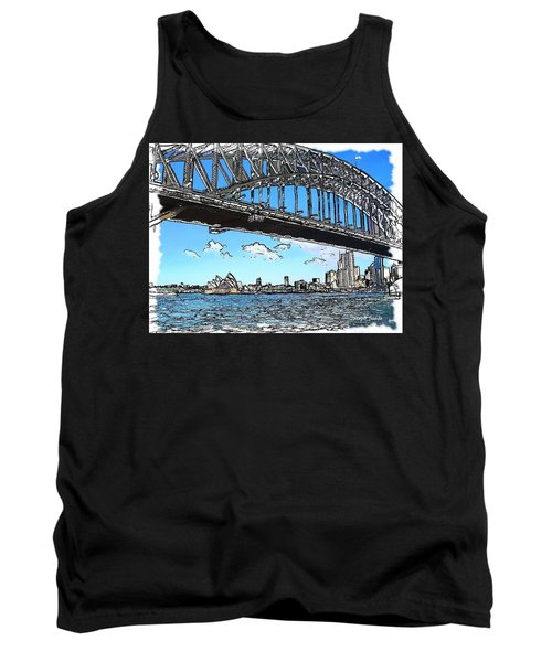 Tank Top featuring the photograph Do-00058 Sydney Harbour Bridge And Opera House by Digital Oil