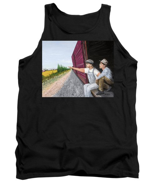 Tank Top featuring the painting Do You Think They Have Rabbits by Kevin Daly