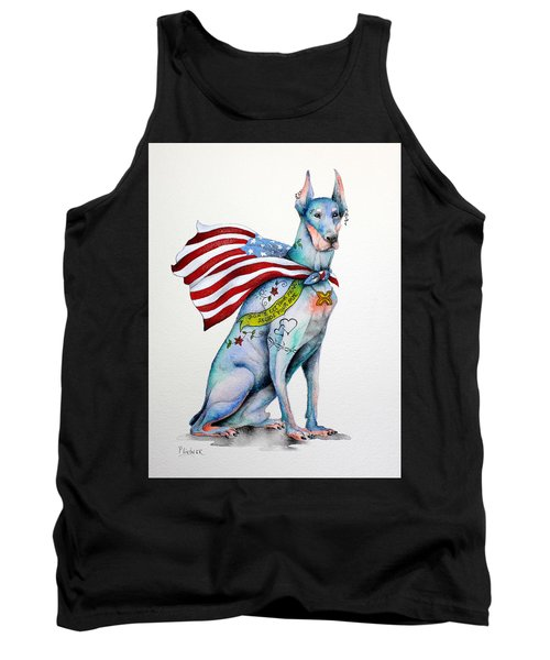 Tank Top featuring the painting Doberman Napolean by Patricia Lintner