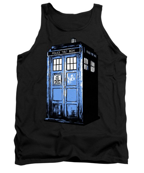 Doctor Who Tardis Tank Top by Edward Fielding