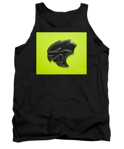 Dodge Challenger Srt Hellcat Emblem Tank Top by Pamela Walrath