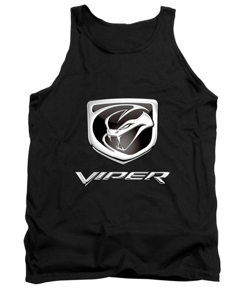 Dodge Viper Badge - Luxury Edition On Black Tank Top