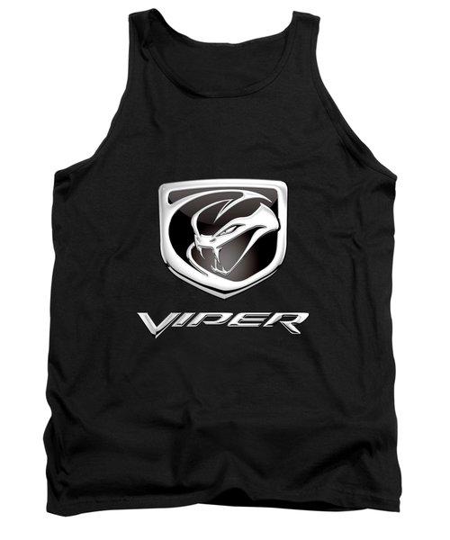 Dodge Viper Badge - Luxury Edition On Black Tank Top