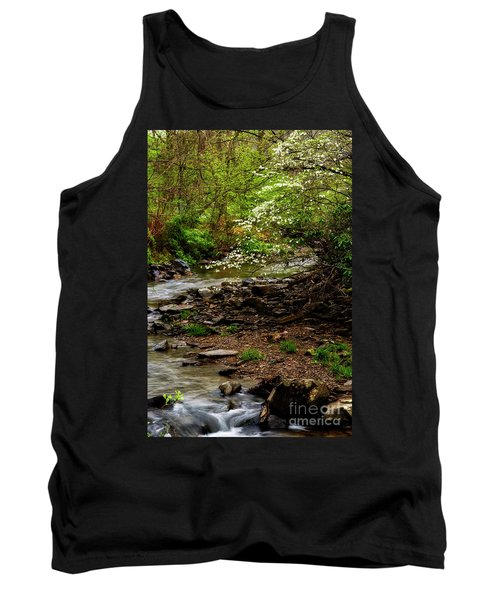 Dogwood At The Bend Tank Top by Thomas R Fletcher