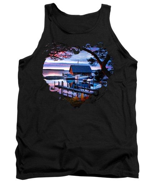 Door County Anderson Dock Sunset Tank Top
