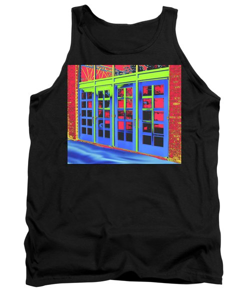 Tank Top featuring the digital art Doorplay by Wendy J St Christopher