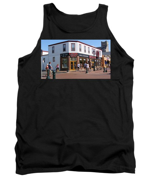 Downtown Cape May New Jersey Tank Top by Rod Jellison