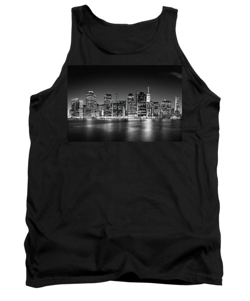 Tank Top featuring the photograph Downtown Manhattan Bw by Az Jackson