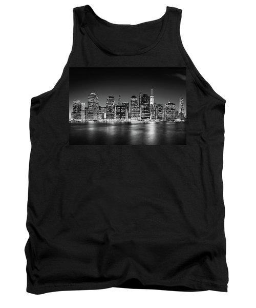 Downtown Manhattan Bw Tank Top by Az Jackson