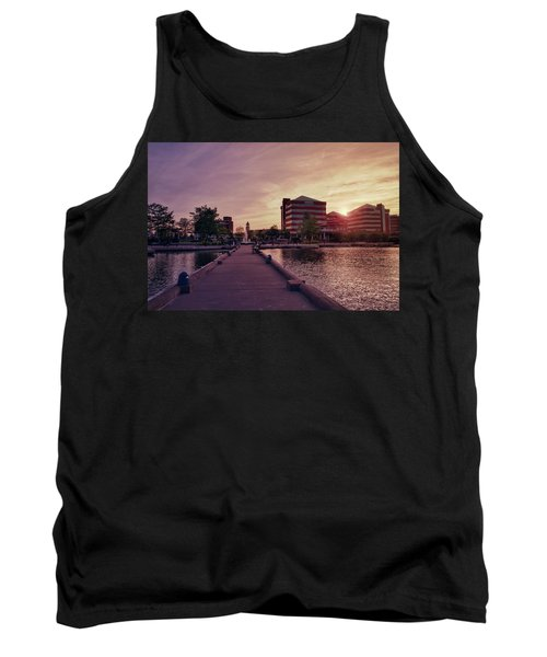 Tank Top featuring the photograph Downtown Neenah Sunset by Joel Witmeyer