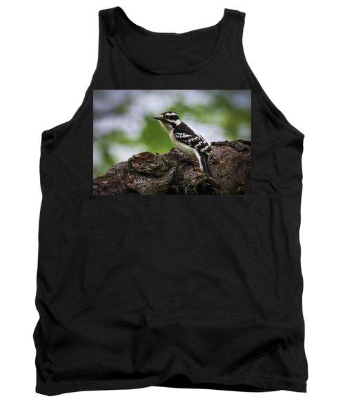Downy Woodpecker Tank Top