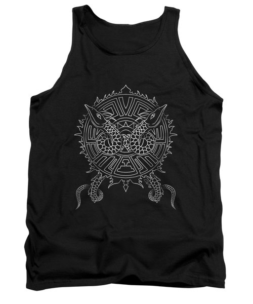 Dragon Shield Tank Top by Christopher Szilagyi