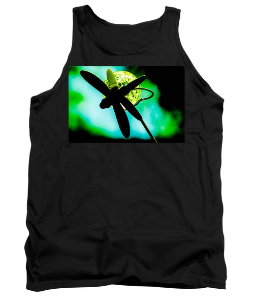 Dragonfly Crystal Tank Top by Bruce Pritchett