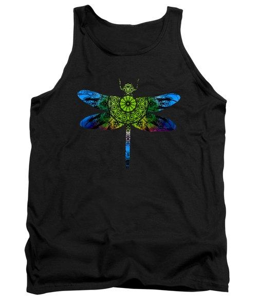 Dragonfly Kaleidoscope Tank Top