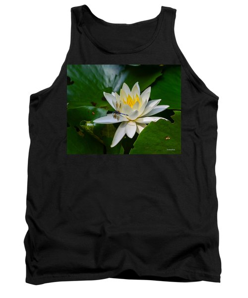 Dragonfly On Waterlily  Tank Top