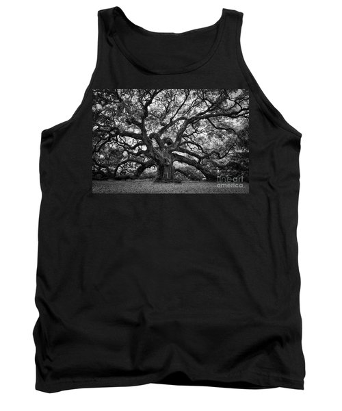 Dramatic Angel Oak In Black And White Tank Top