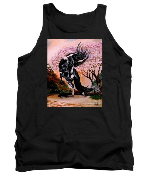 Dream Horse Series #2050 Mustang Valley Tank Top by Cheryl Poland