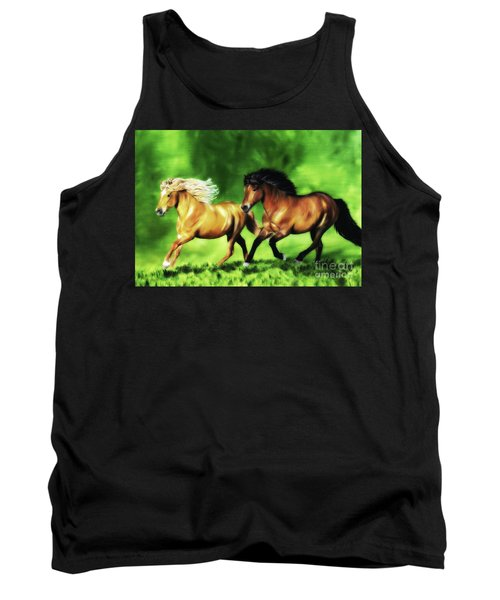 Tank Top featuring the painting Dream Team by Shari Nees