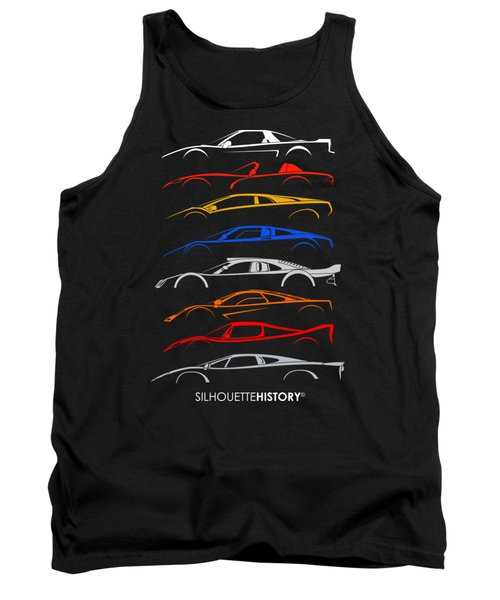 Dreamcars Of 90s Silhouettehistory Tank Top